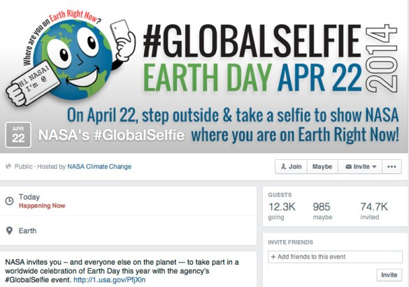 NASA - #GlobalSelfie event.