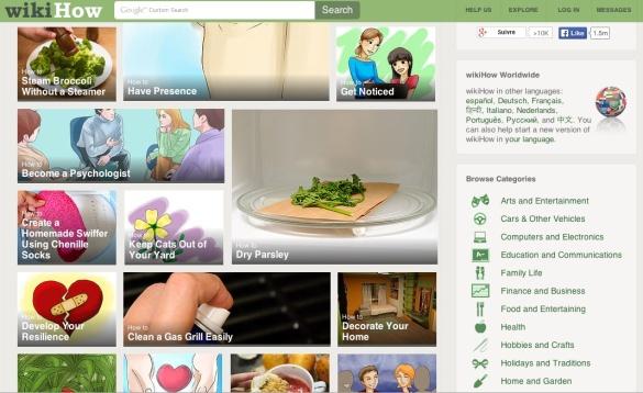 WikiHow Homepage