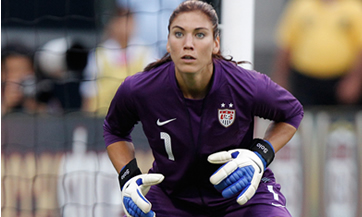 Hope Solo, famous American soccer player